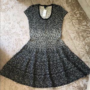 Black & Gold knit dress